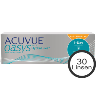 ACUVUE oasys 1-Day HydraLuxe for Astigmatism 30er Box (Johnson & Johnson)
