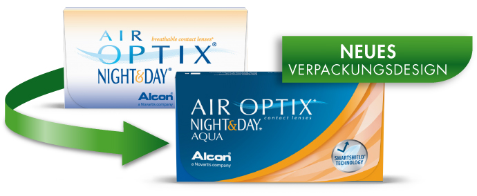 Air Optix Night and Day neue Verpackung